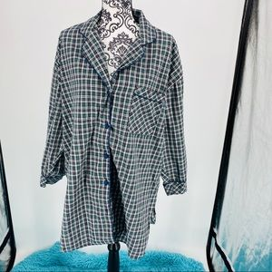 Victoria's Secret plaid long sleepshirt.